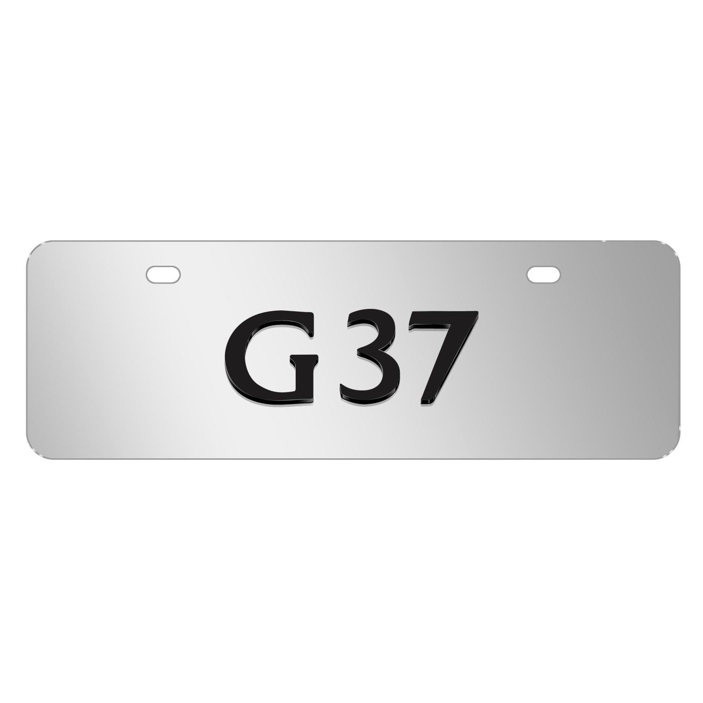 "INFINITI G37 Name Brush 12""x4"" Half-Size Metal License Plate"