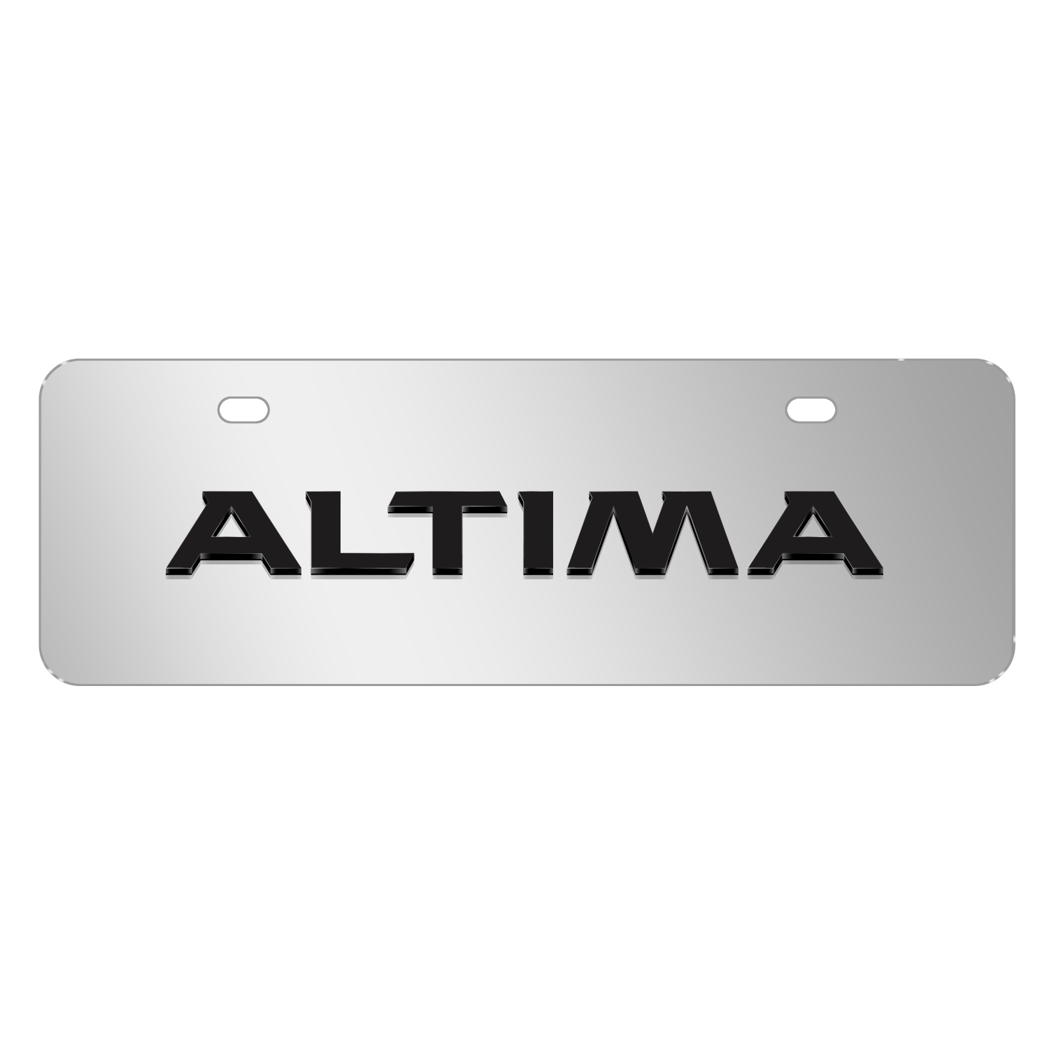 """Nissan Altima 3D Mirror Chrome 12""""x4"""" Half-Size Stainless Steel License Plate"""