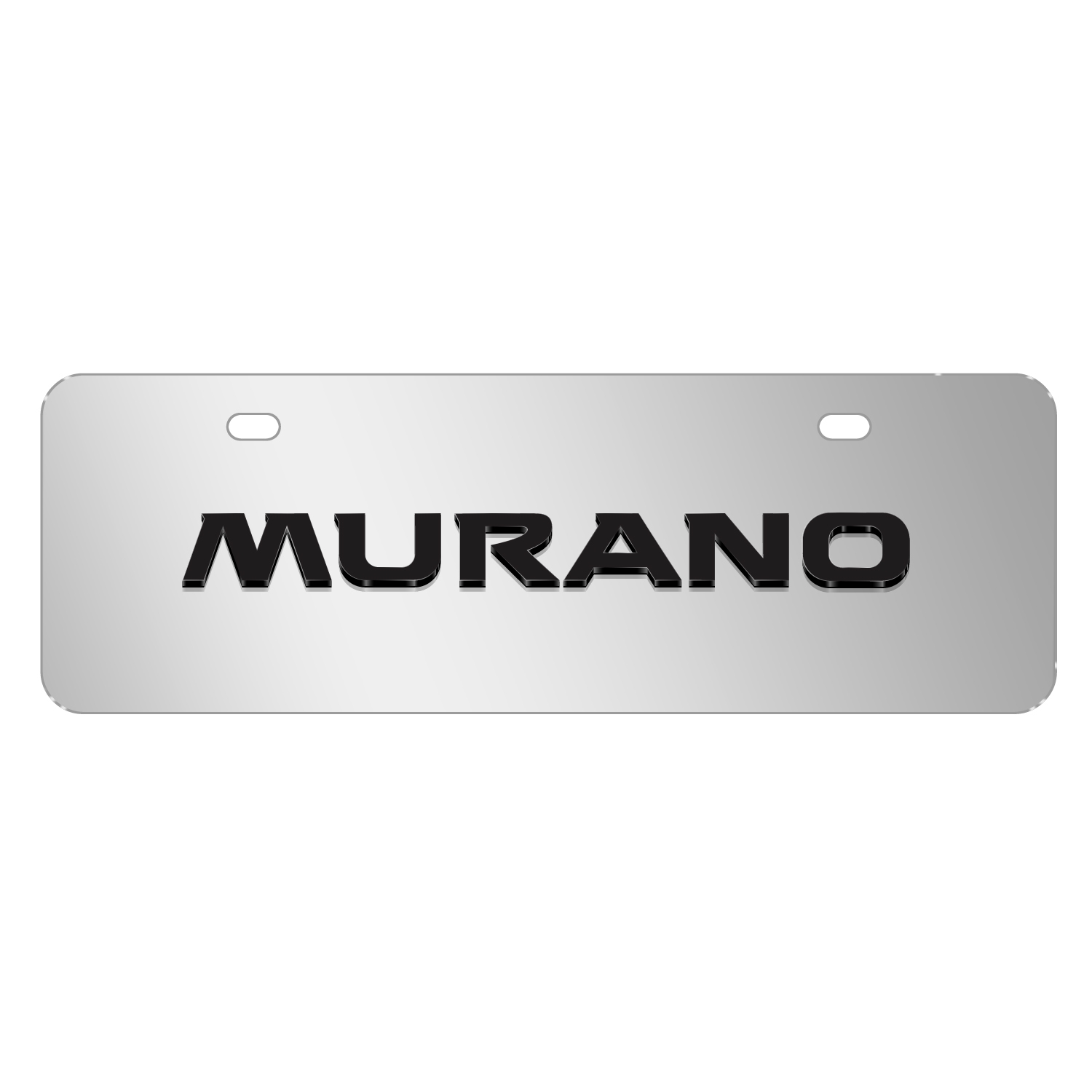 """Nissan Murano 3D Mirror Chrome 12""""x4"""" Half-Size Stainless Steel License Plate"""