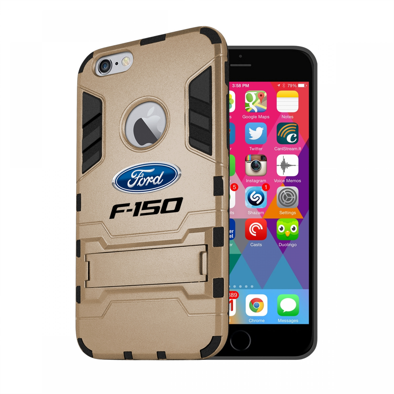 Ford F-150 iPhone 6 6s Shockproof TPU ABS Hybrid Golden Phone Case