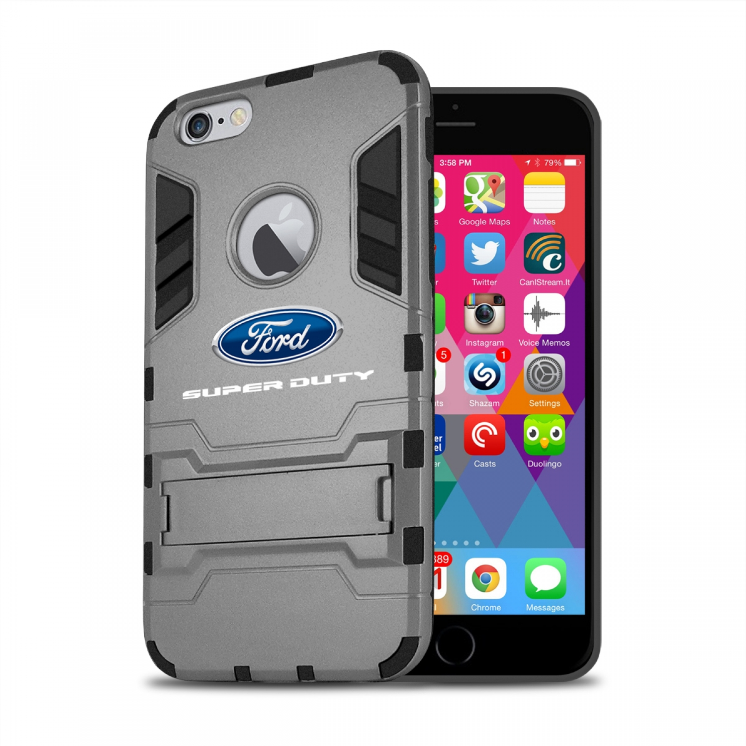 Ford Super Duty iPhone 6 6s Shockproof TPU ABS Hybrid Dark Gray Phone Case
