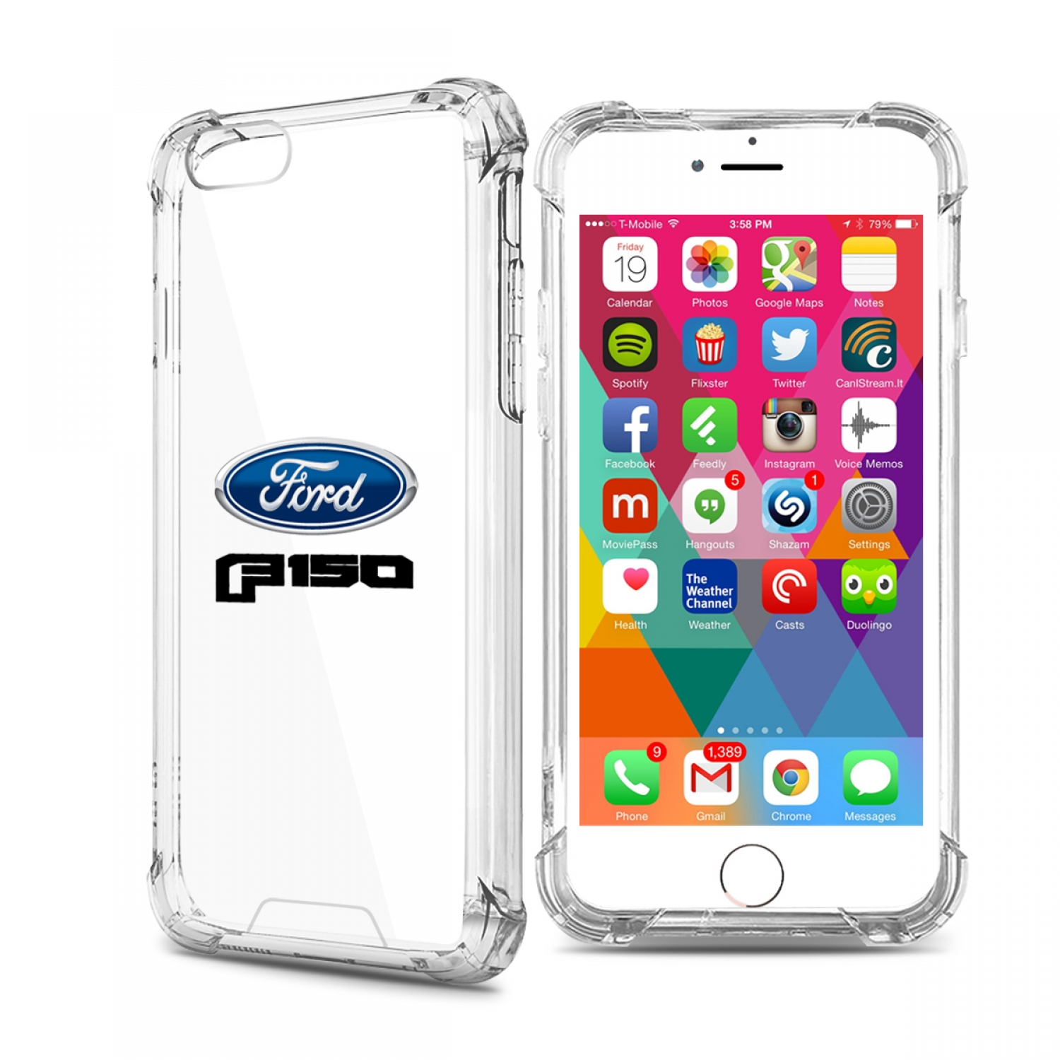Ford F150 2015 iPhone 7 Clear TPU Shockproof Cell Phone Case