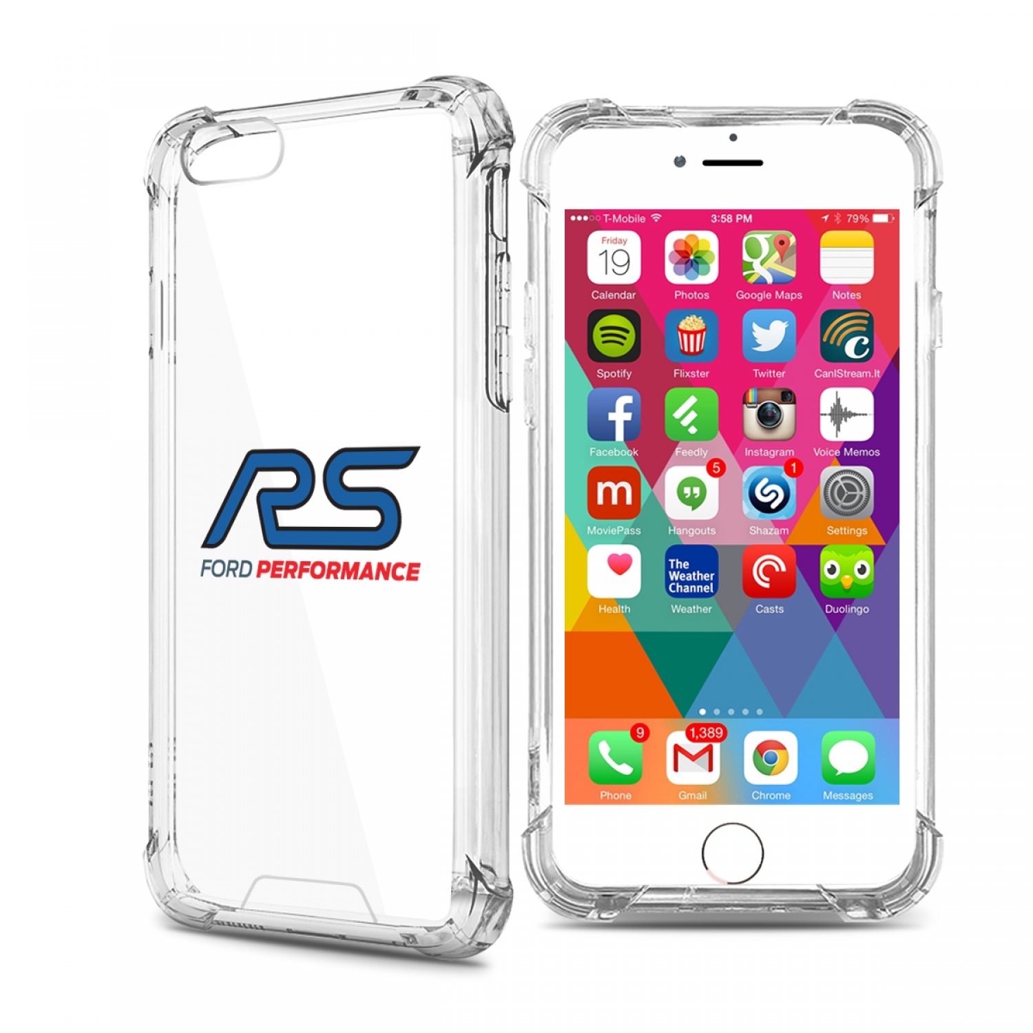 Ford Focus RS iPhone 7 Clear TPU Shockproof Cell Phone Case