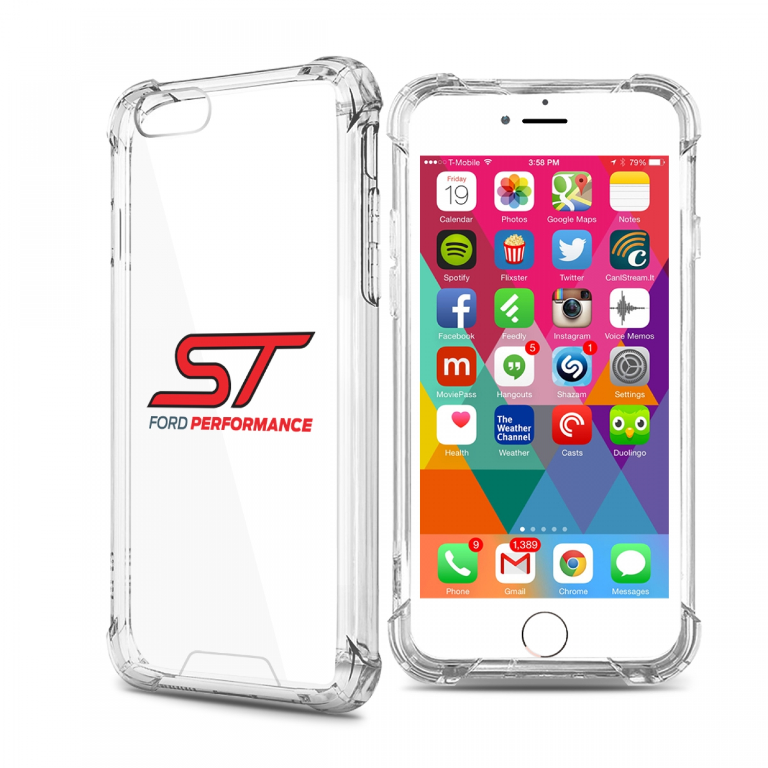 Ford Focus ST iPhone 7 Clear TPU Shockproof Cell Phone Case