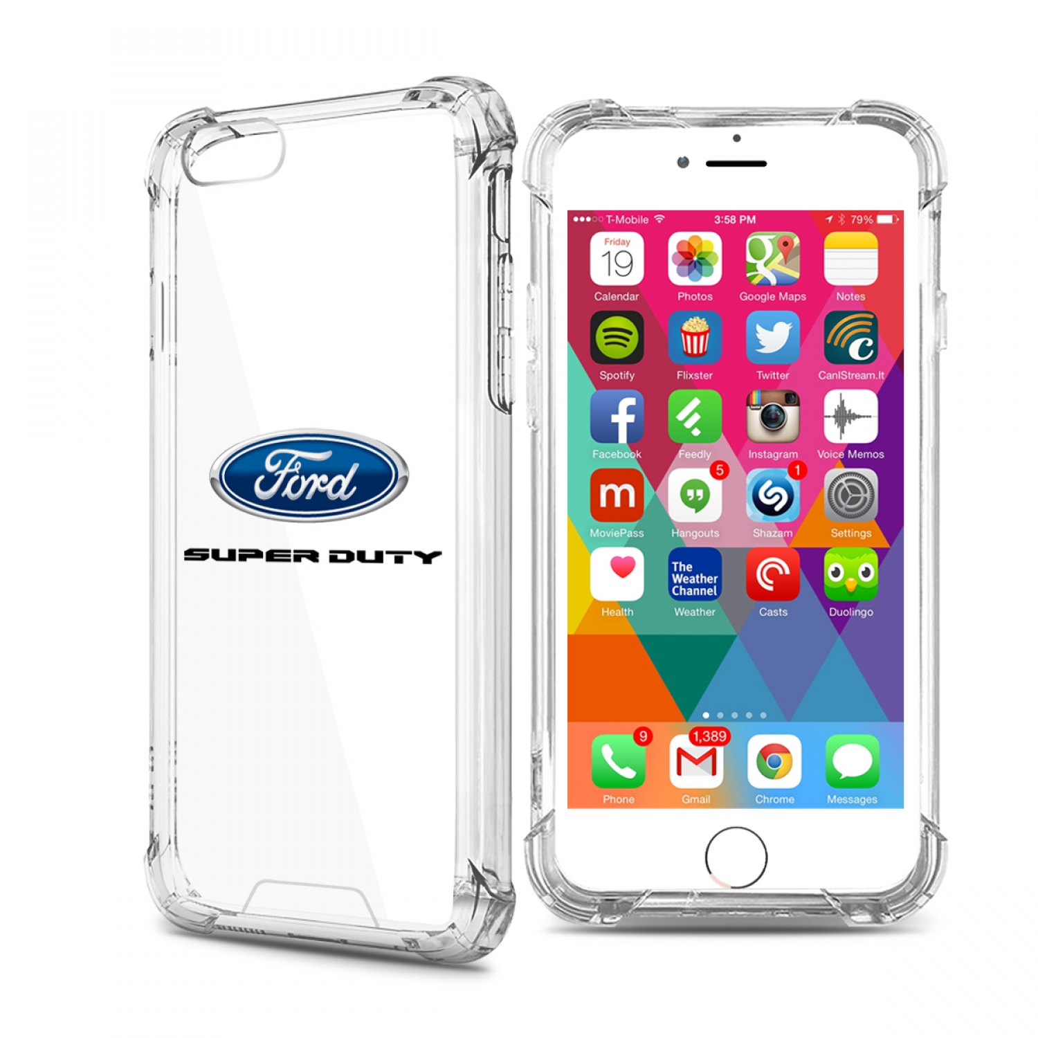 Ford Super Duty iPhone 7 Clear TPU Shockproof Cell Phone Case