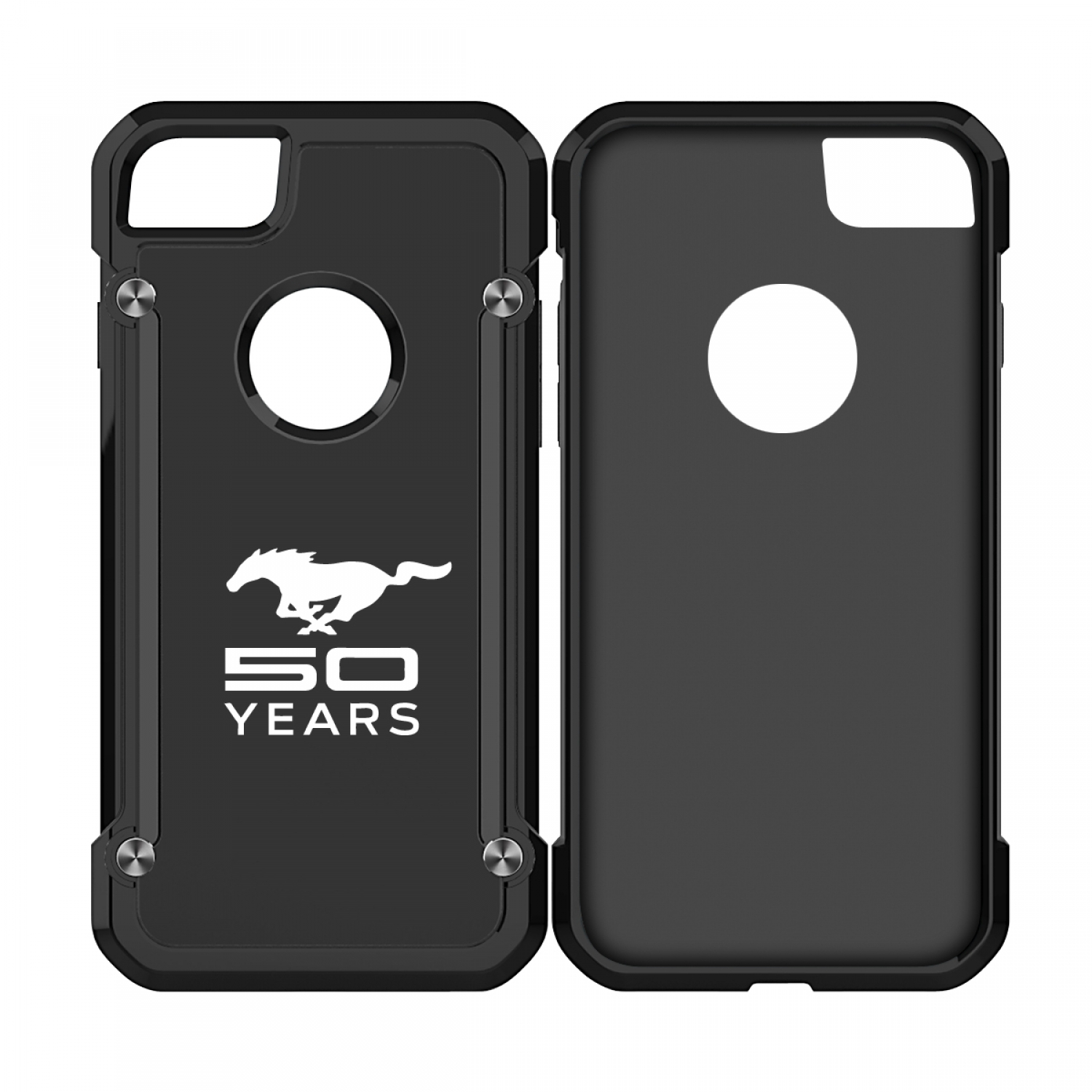 Ford Mustang 50 Years iPhone 7 iPhone 8 TPU Shockproof Black Cell Phone Case