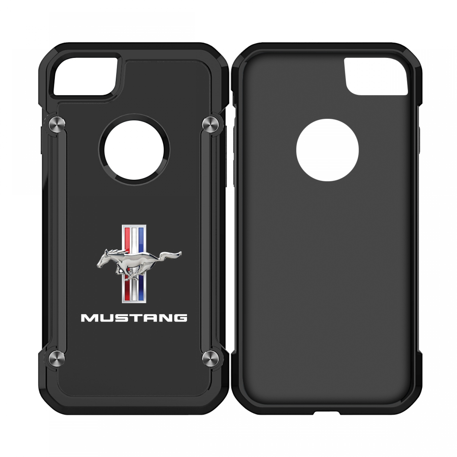 Ford Mustang Tri-Bar iPhone 7 iPhone 8 TPU Shockproof Black Cell Phone Case