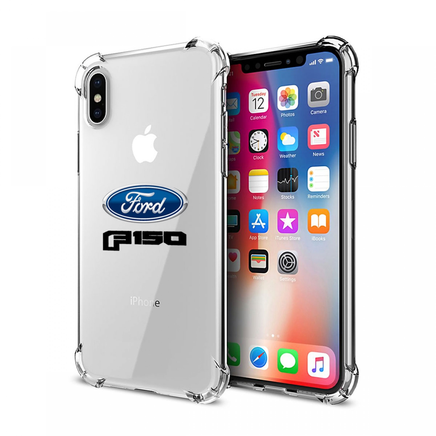 Ford F150 2015 iPhone X Clear TPU Shockproof Cell Phone Case