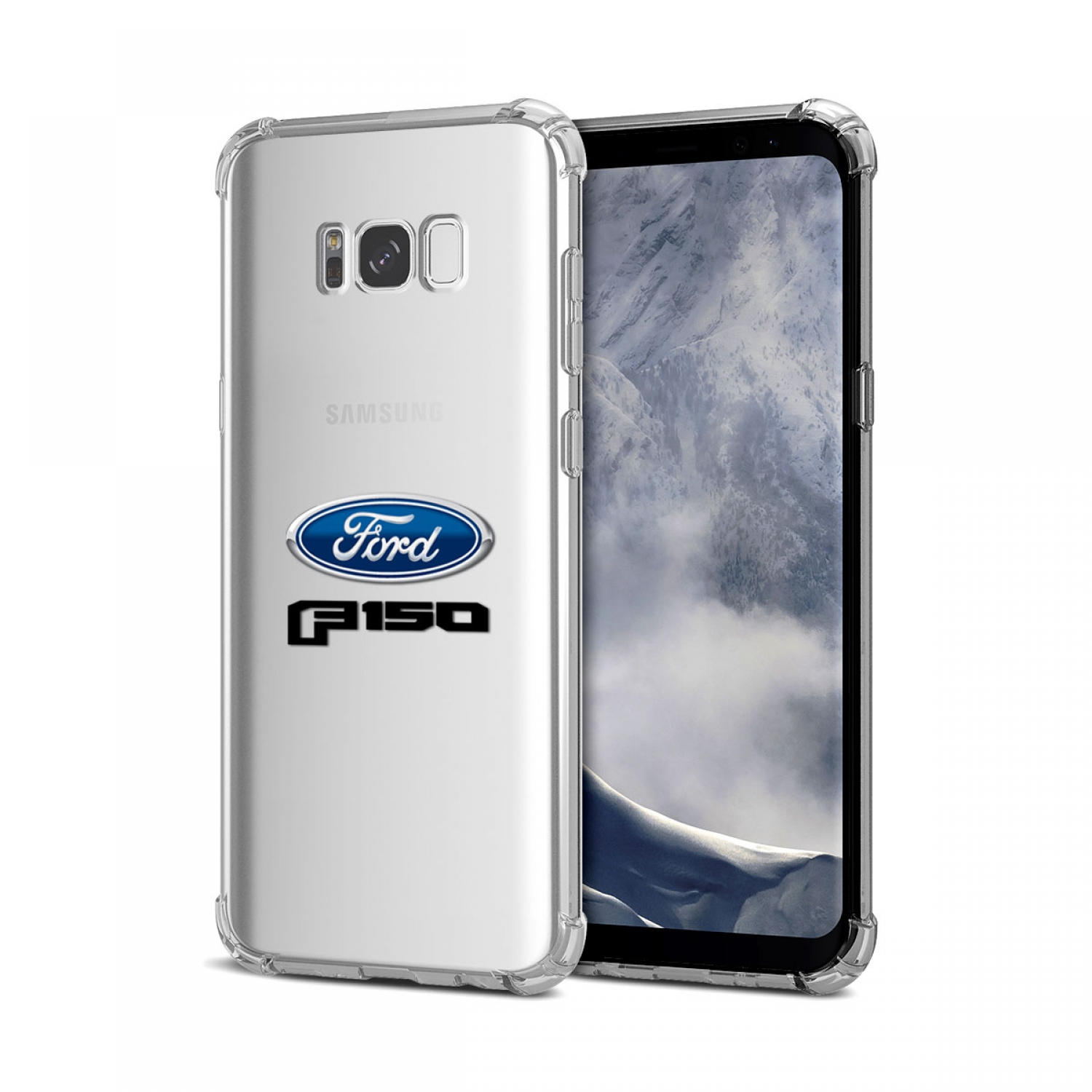 Galaxy S8 Case, Ford F-150 2015 up Clear TPU Shockproof Cell Phone Case