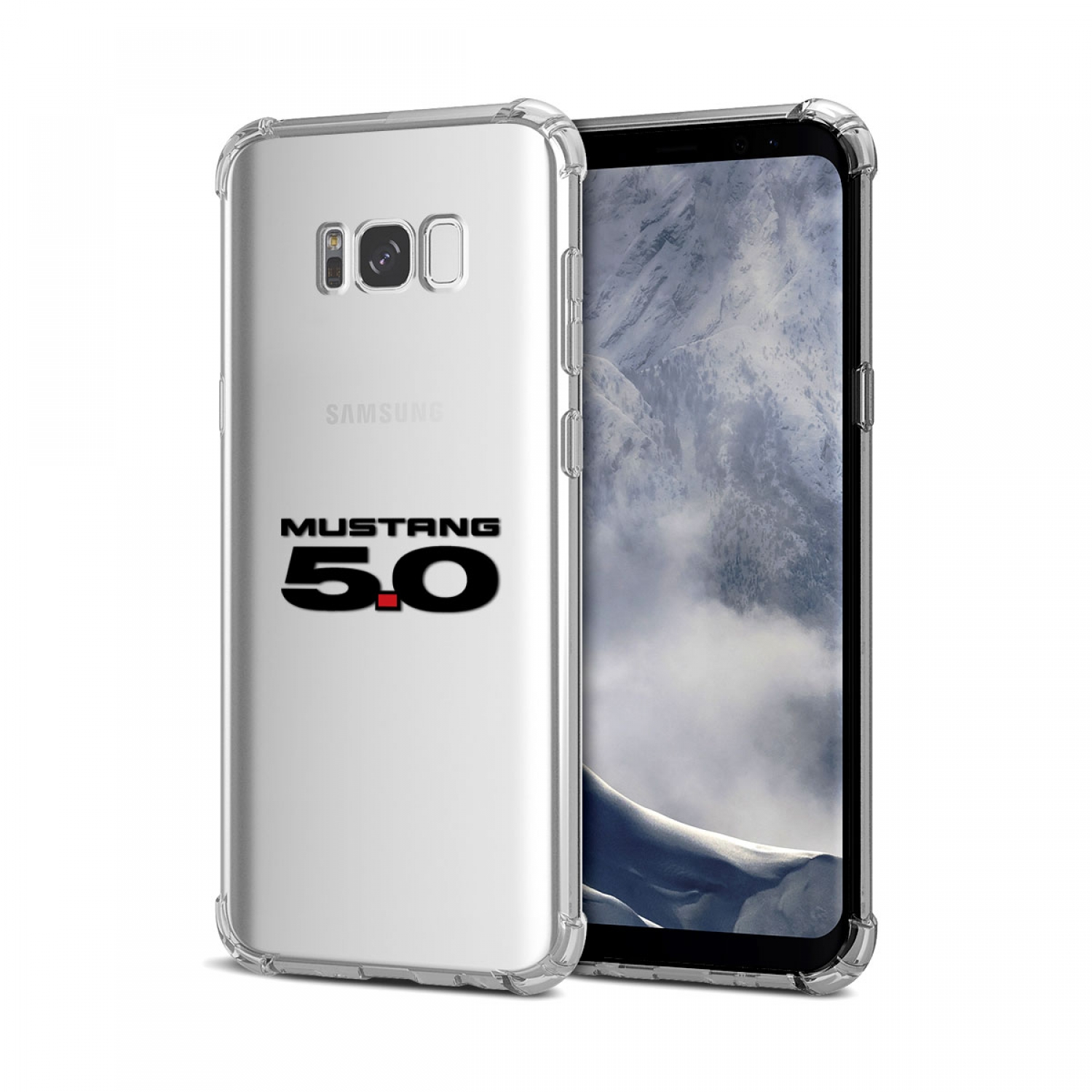Galaxy S8 Case, Ford Mustang 5.0 Clear TPU Shockproof Cell Phone Case