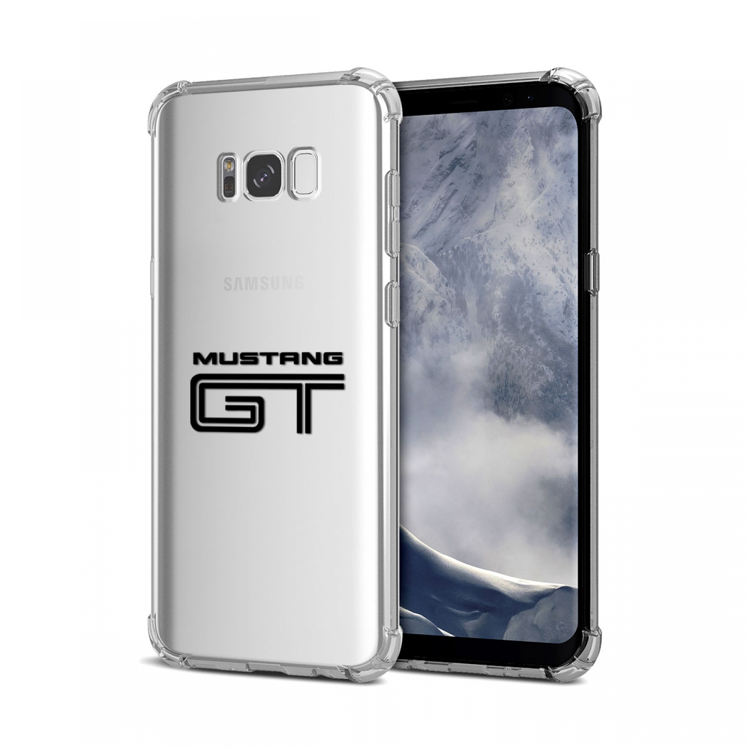 Galaxy S8 Case, Ford Mustang GT Clear TPU Shockproof Cell Phone Case