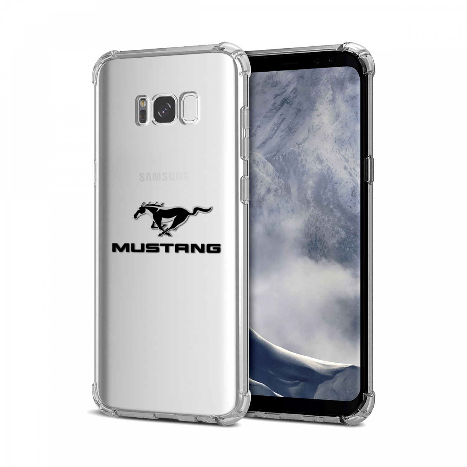 Galaxy S8 Case, Ford Mustang Clear TPU Shockproof Cell Phone Case