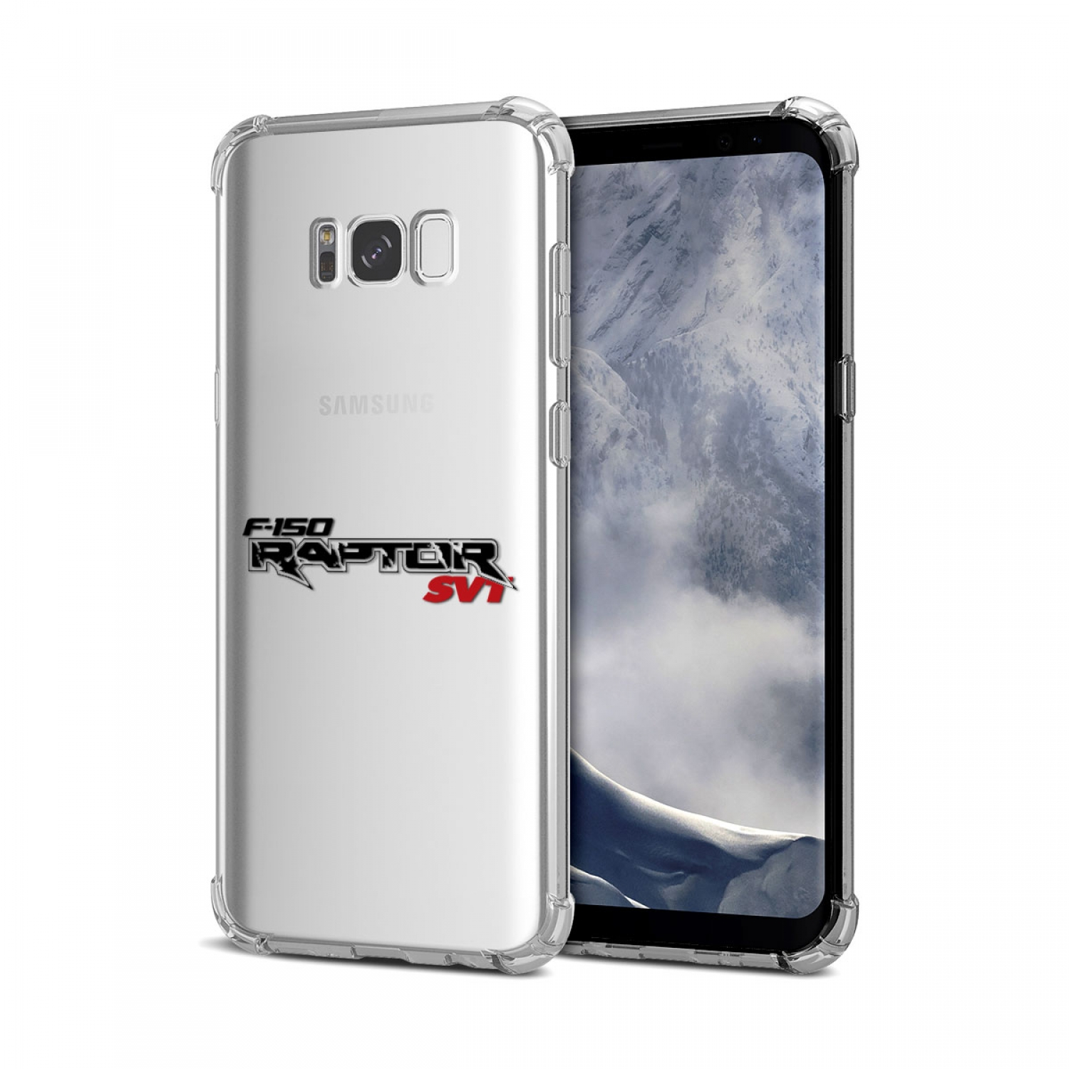 Galaxy S8 Case, Ford F-150 Raptor SVT Clear TPU Shockproof Cell Phone Case