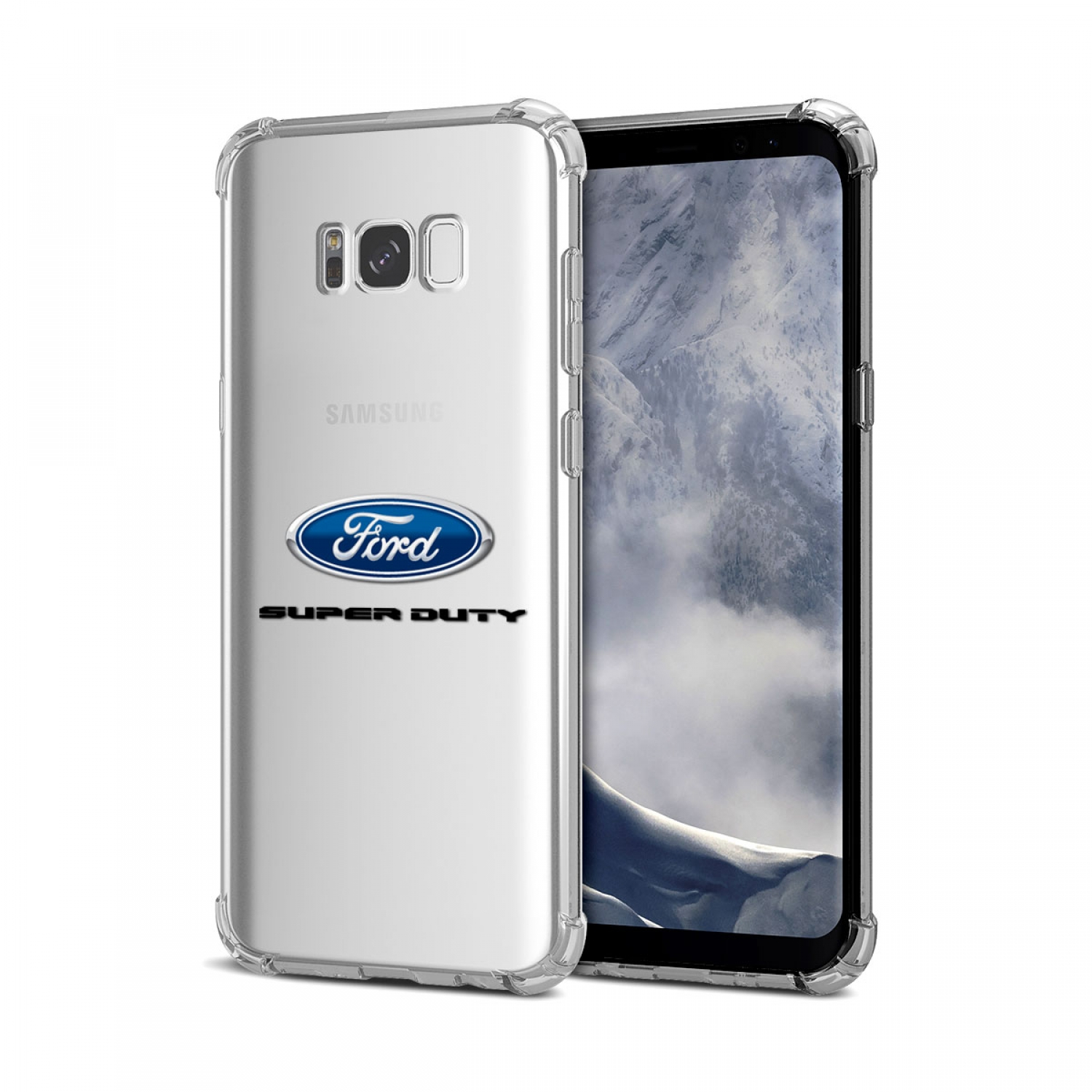 Galaxy S8 Case, Ford Super Duty Clear TPU Shockproof Cell Phone Case