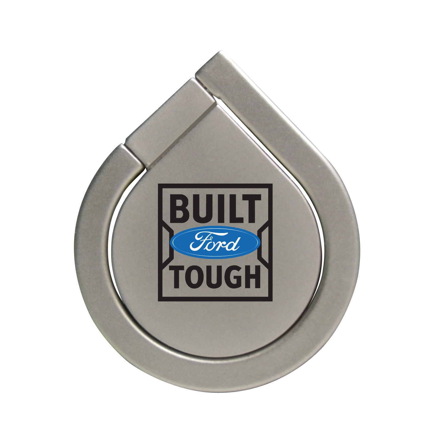 Ford Built Ford Tough Silver 360 Degree Rotation Finger Ring Holder for Cell Phone