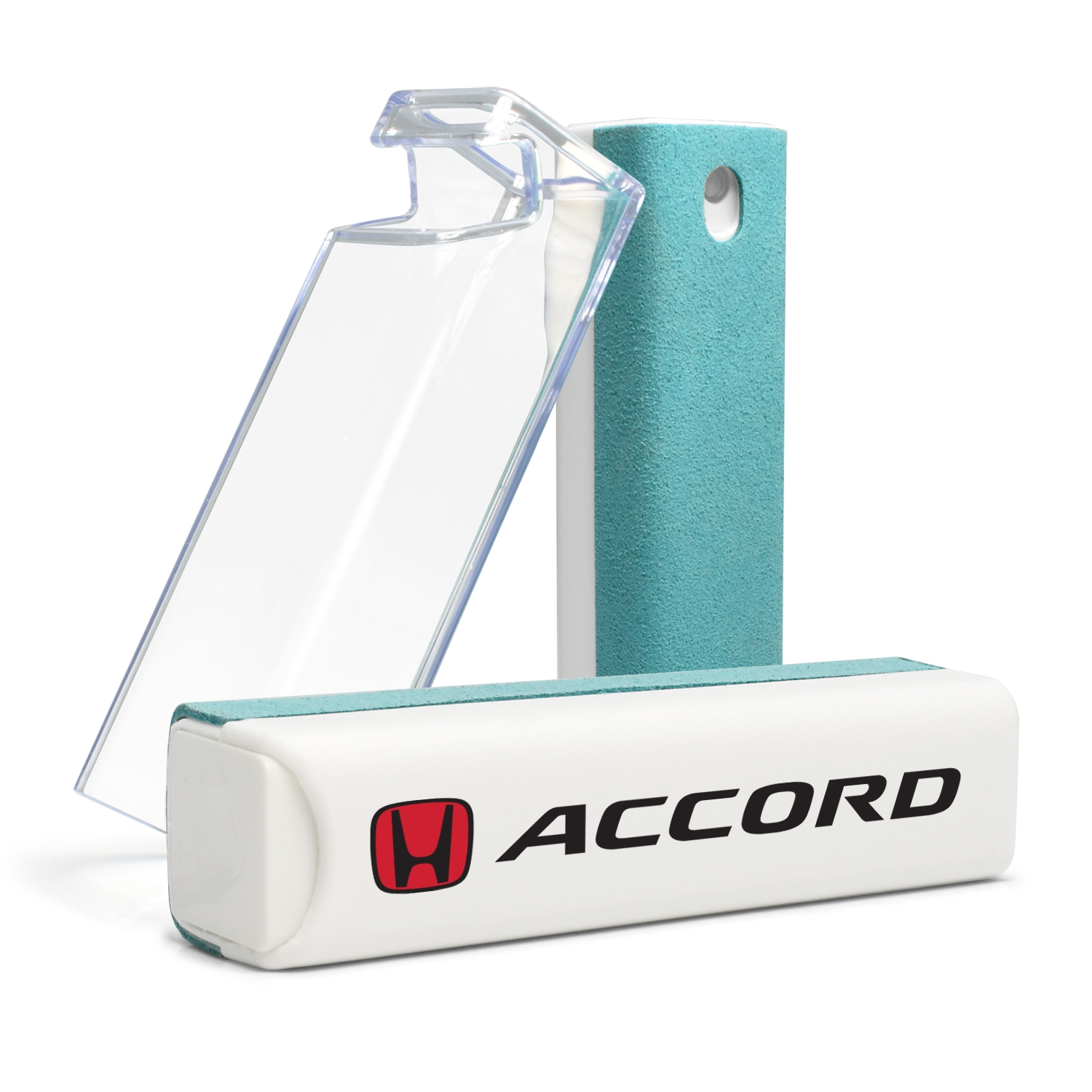 Honda Red Logo Accord All-in-One Blue Wipe Navigation Screen Cleaner with Clear Cell Phone Stand