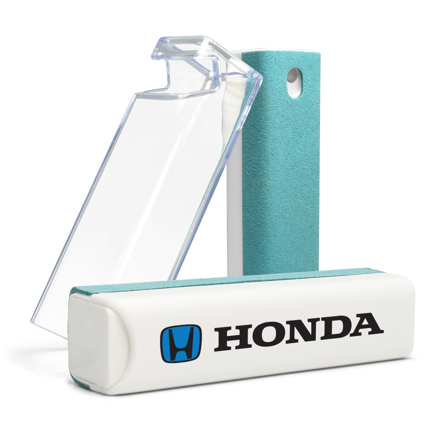 Honda Logo in Blue All-in-One Blue Wipe Navigation Screen Cleaner with Clear Cell Phone Stand