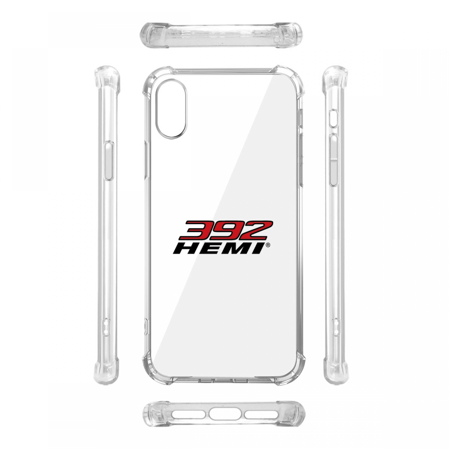HEMI 392 HP iPhone X Clear TPU Shockproof Cell Phone Case