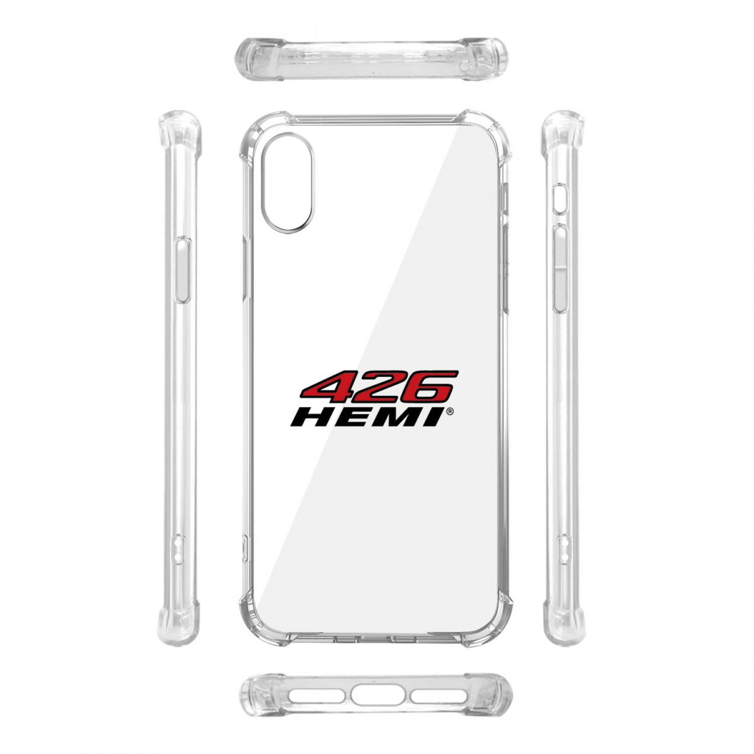 HEMI 426 HP iPhone X Clear TPU Shockproof Cell Phone Case