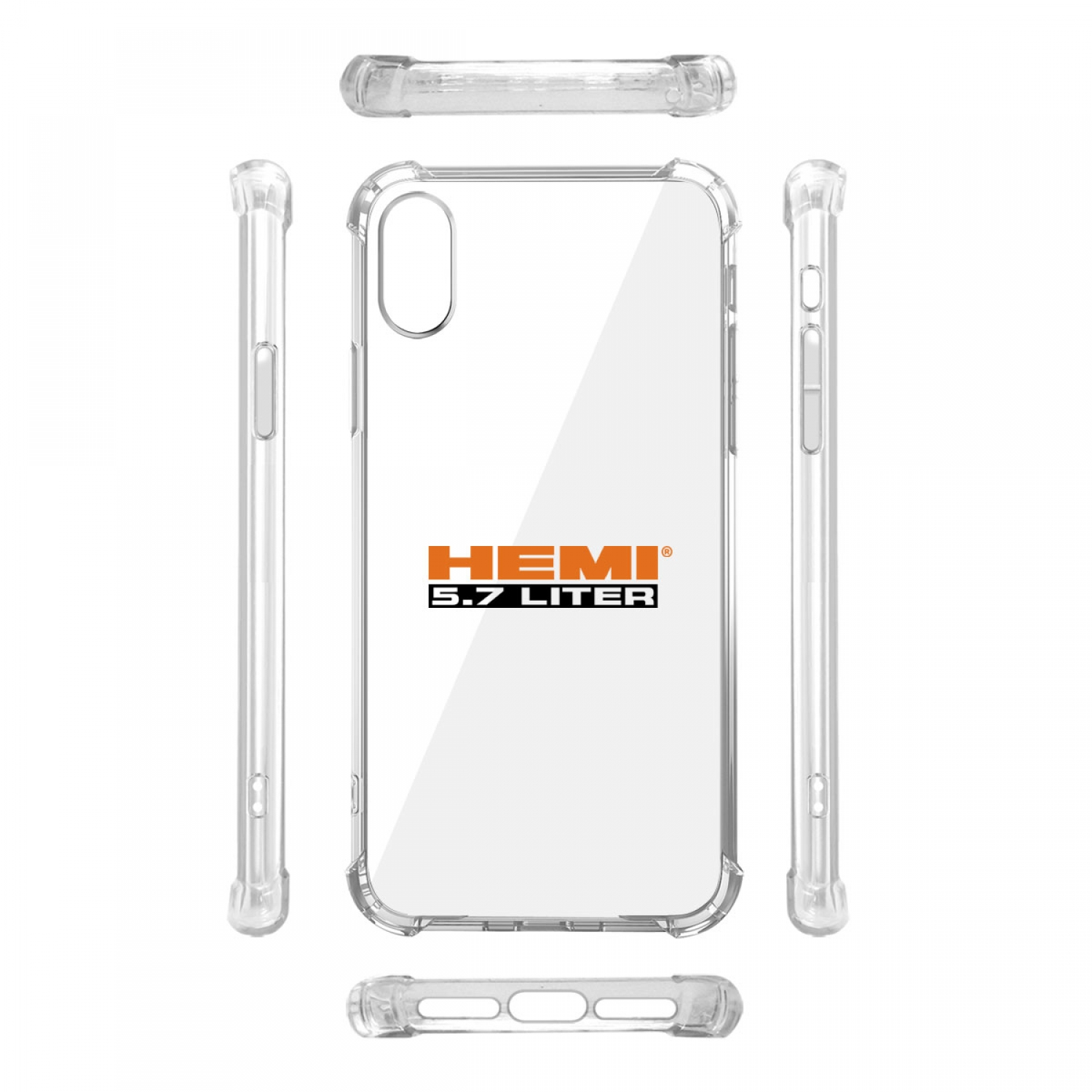HEMI 5.7 Liter iPhone X Clear TPU Shockproof Cell Phone Case
