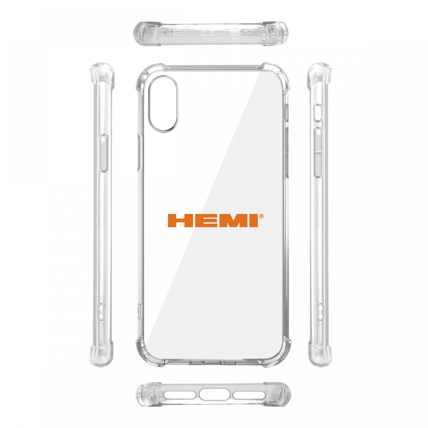 HEMI Logo iPhone X Clear TPU Shockproof Cell Phone Case