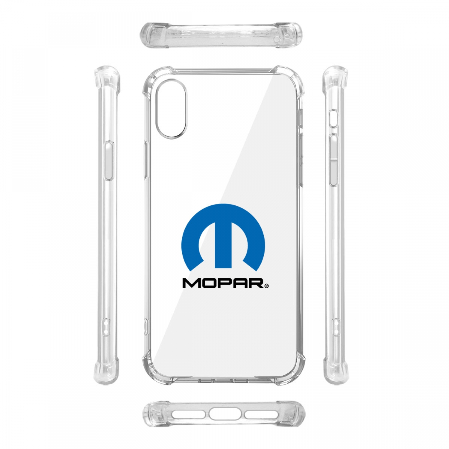 MOPAR Logo iPhone X Clear TPU Shockproof Cell Phone Case