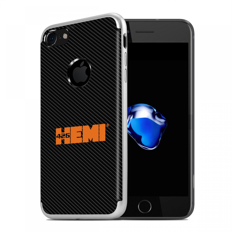 iPhone 7 Case, HEMI 426 in HEMI PC+TPU Shockproof Black Carbon Fiber Textures Cell Phone Case