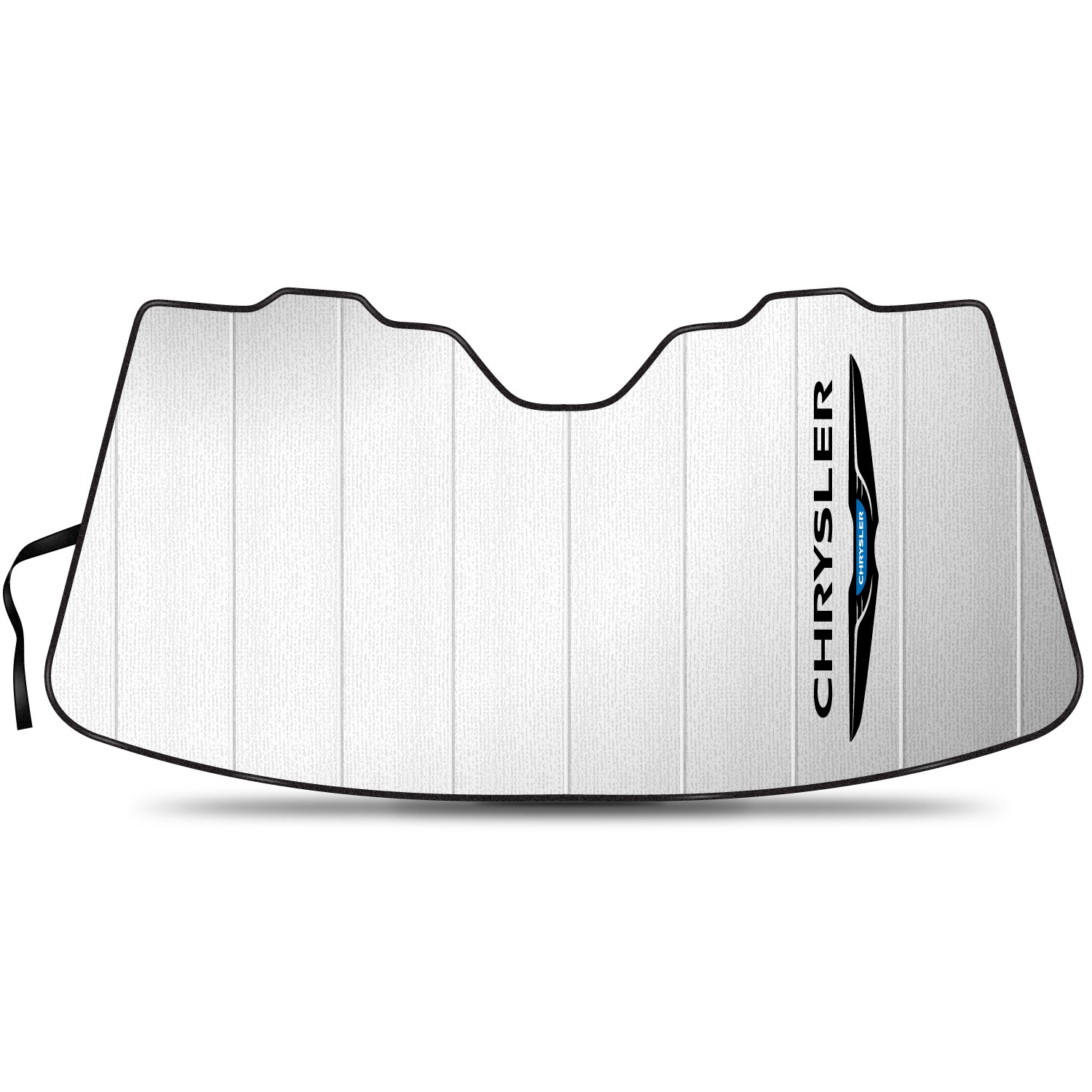 """Chrysler Logo 55-1/2""""x 27"""" Stand Up Universal Fit Auto Windshield Sun Shade"""