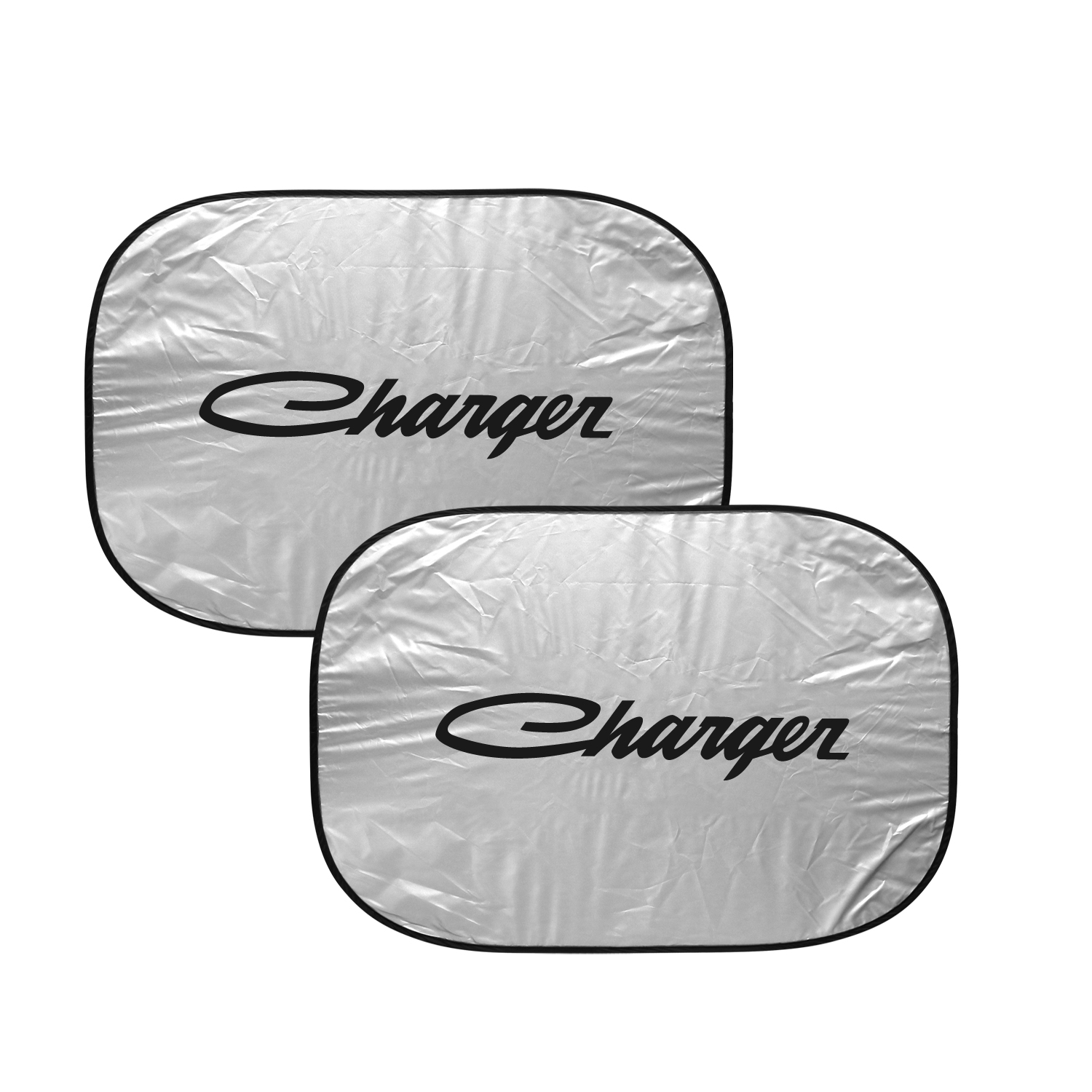 "Dodge Charger Classic Logo Dual Panels 2-28"" W x 24"" L Easy Folding Windshield Sun Shade"