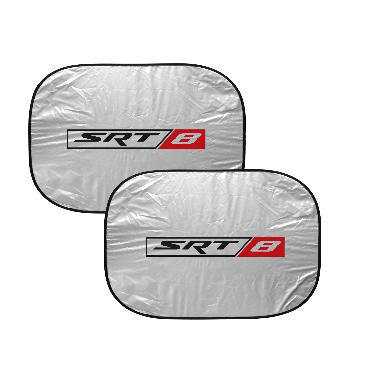 "SRT-8 Logo Logo Dual Panels 2-28"" W x 24"" L Easy Folding Windshield Sun Shade for Dodge Jeep"