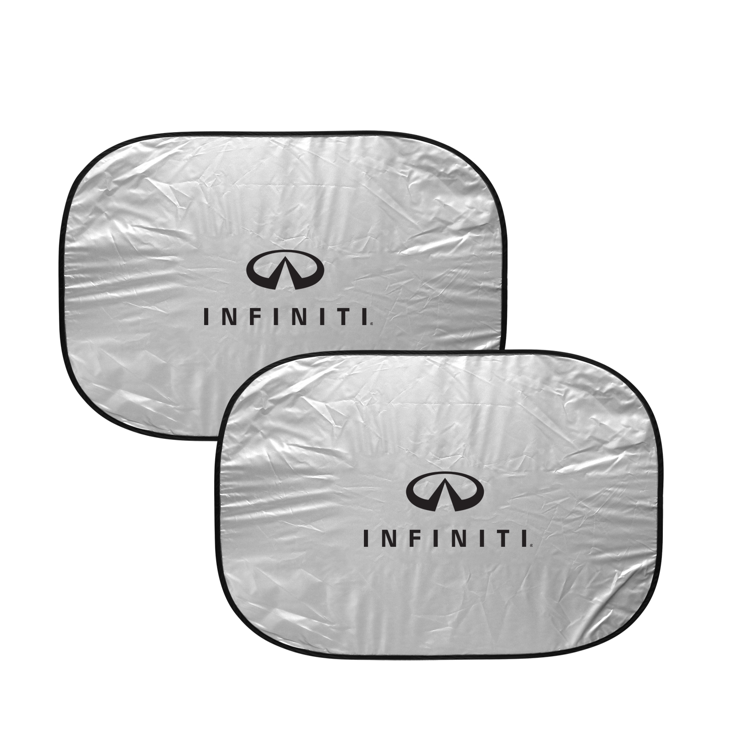 INFINITI Logo Dual Panels Easy Folding Windshield Sun Shade for Cars and Small SUVs