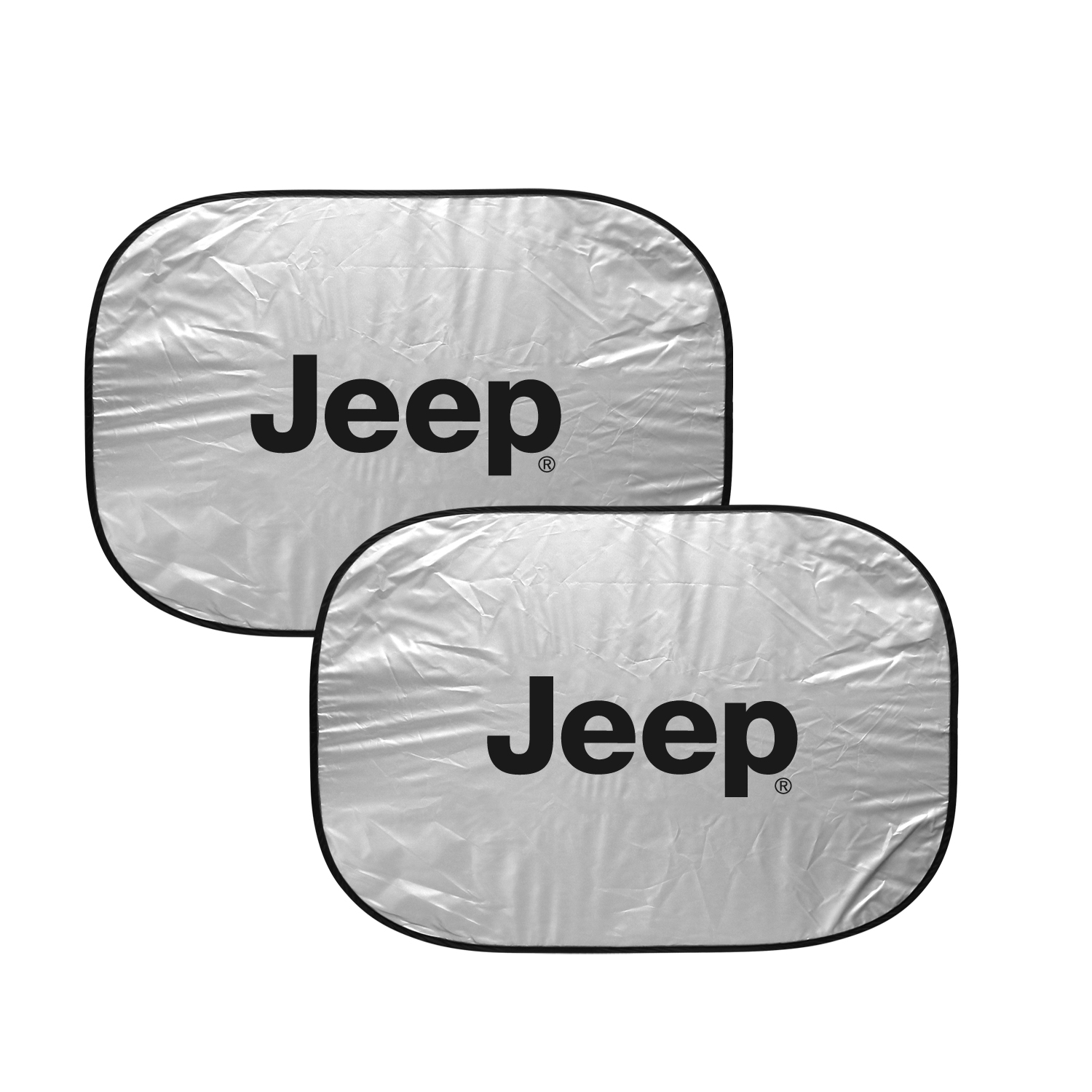 "Jeep Logo Dual Panels 2-28"" W x 24"" L Easy Folding Windshield Sun Shade"