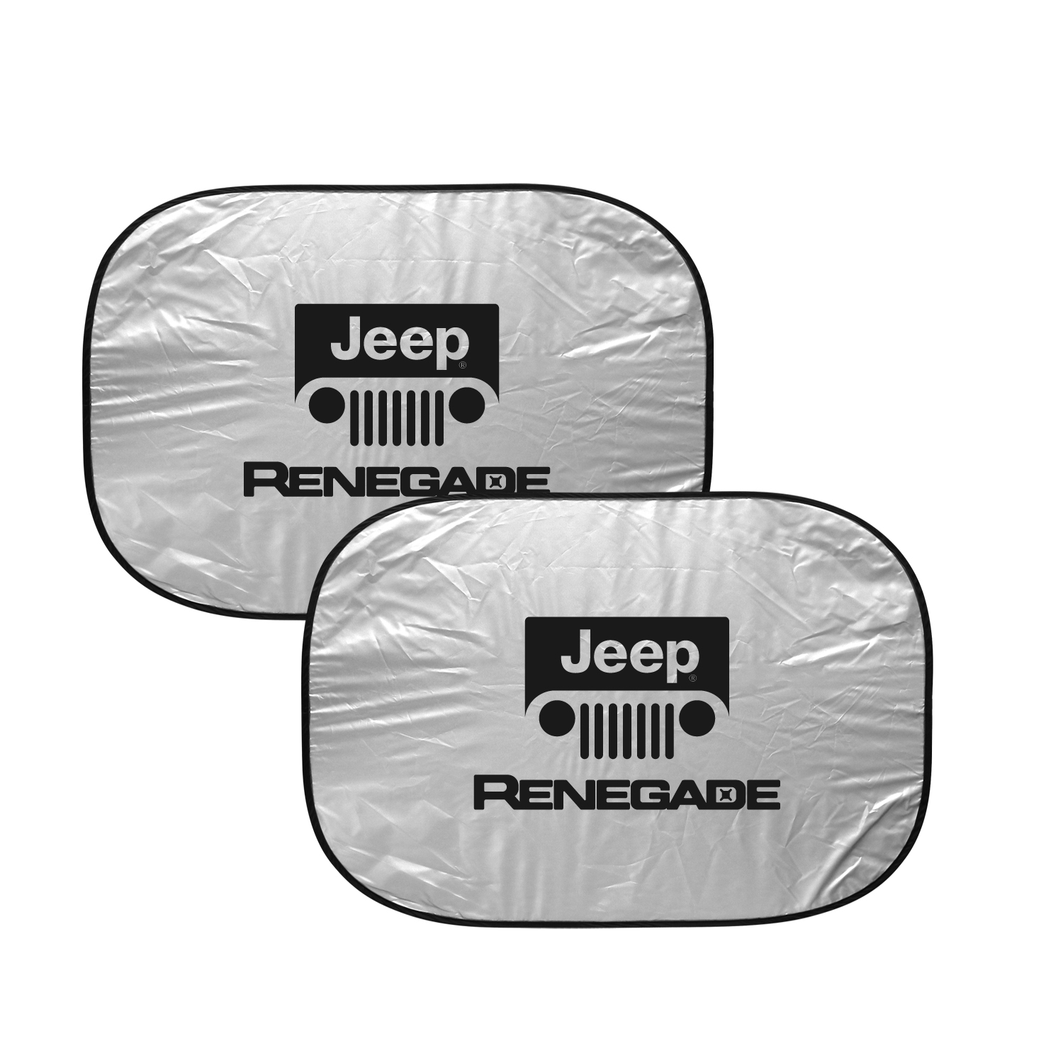 "Jeep Renegade Dual Panels 2-28"" W x 24"" L Easy Folding Windshield Sun Shade"