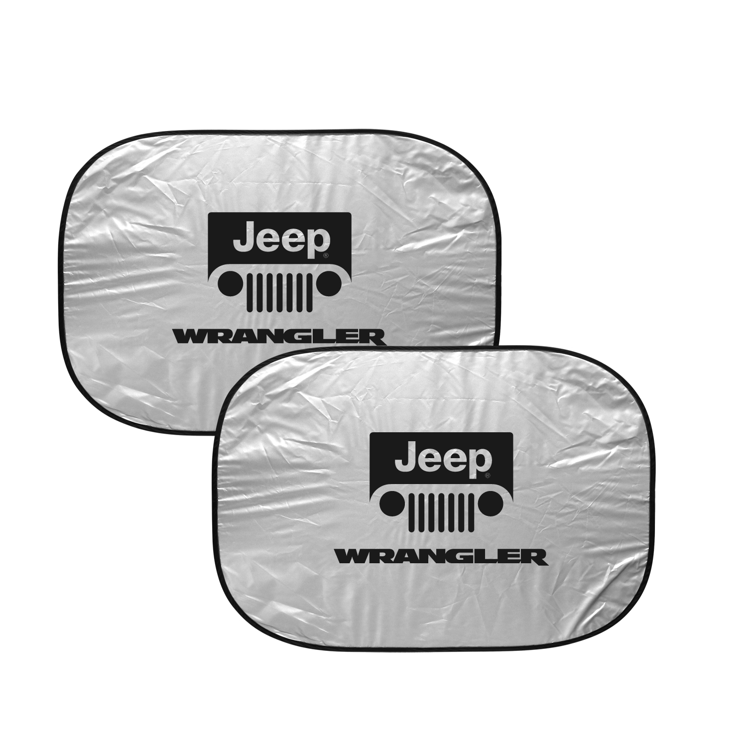 "Jeep Wrangler Dual Panels 2-28"" W x 24"" L Easy Folding Windshield Sun Shade"