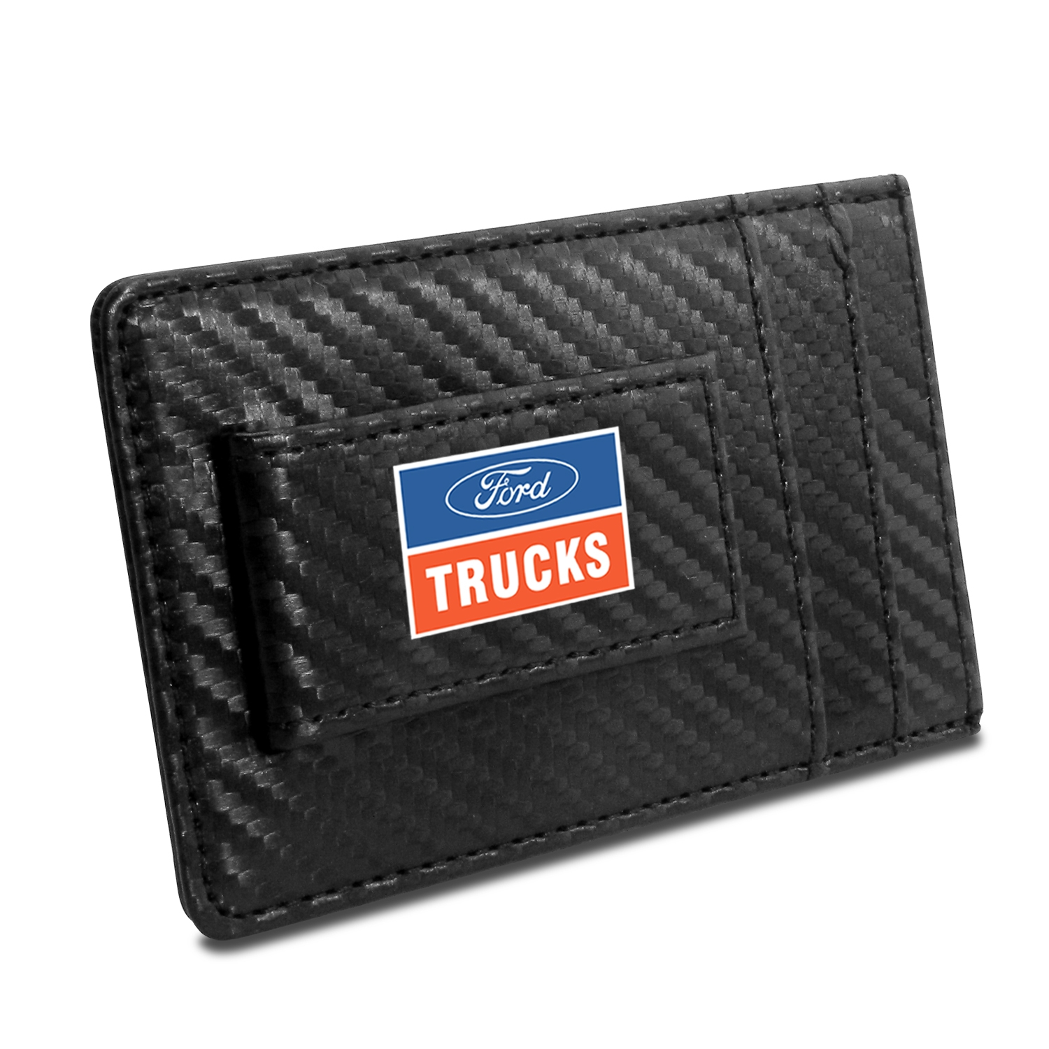 Ford Trucks Black Carbon Fiber RFID Card Holder Wallet
