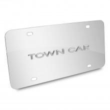 Lincoln Town Car Nameplate 3D Logo Chrome Stainless Steel License Plate
