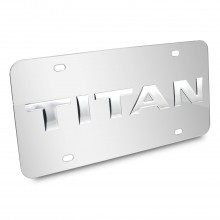 Nissan Titan Nameplate 3D Logo Chrome Stainless Steel License Plate
