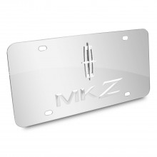 Lincoln MKZ 3D Logo Chrome Stainless Steel License Plate