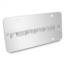 GMC Terrain Nameplate 3D Logo Chrome Stainless Steel License Plate
