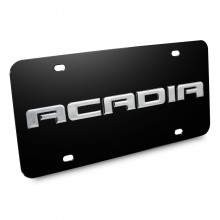 GMC Acadia Nameplate 3D Logo Black Stainless Steel License Plate
