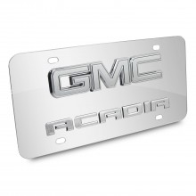 GMC Acadia 3D Logo Chrome Stainless Steel License Plate