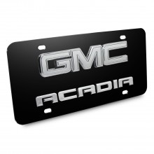 GMC Acadia 3D Logo Black Stainless Steel License Plate