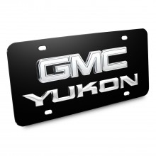 GMC Yukon 3D Logo Black Stainless Steel License Plate