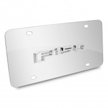 Ford F150 2015 up 3d Logo Chrome Stainless Steel License Plate