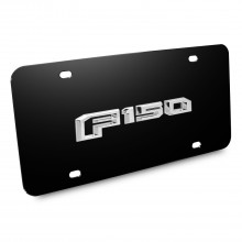 Ford F-150 2015 up 3D Logo Black Stainless Steel License Plate