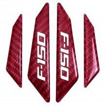 Ford F-150 2009-2014 Real Red Carbon Fiber Door Edge Guard Decal
