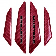 Ford Mustang in Blue Real Red Carbon Fiber Door Edge Guard Decal