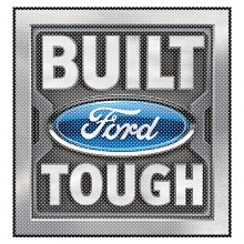 "Ford Built Ford Tough 12"" 3M Perforated Unobstructed View Window Graphic Decorative Decal"