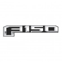 "Ford F150 2015 to 2018 12"" 3M Perforated Unobstructed View Window Graphic Decorative Decal"