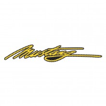 "Ford Mustang Script in Yellow 12"" 3M Perforated Unobstructed View Window Graphic Decorative Decal"